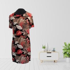 Pink and Black Jungle Print Dress