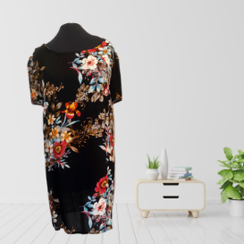 Vibrant Floral T-shirt Dress