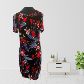 Bold Iris print Shift Dress
