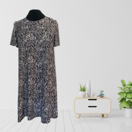 Zebra Print A-line Dress