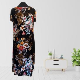 Vibrant Floral Midi Dress